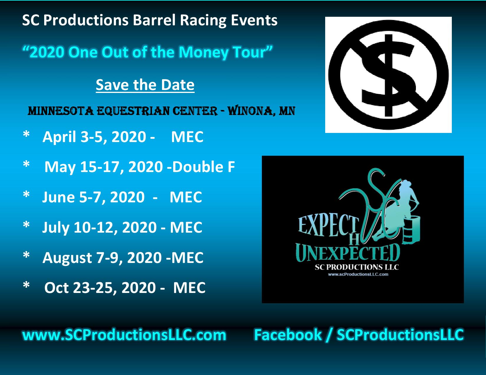 Save the Date SC Productions 2020 Tour